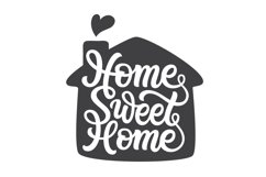 Home Sweet Home. Hand lettering SVG DXF cut file Product Image 1