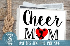 Cheer Mom Cheerleader Mother SVG Design Product Image 1