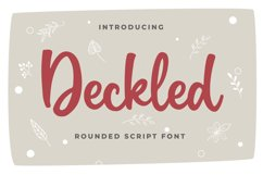 Deckled Rounded Script Font Product Image 1