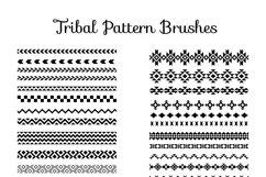 80 Tribal Pattern Brushes for Adobe Illustrator Product Image 2