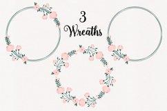 Floral Pink Peony Wreaths Illustration Bundle Product Image 2