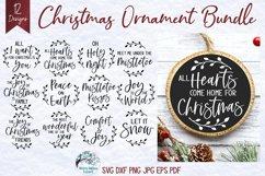 Mega Christmas Ornament SVG Bundle 6 | Round Christmas SVGs Product Image 3