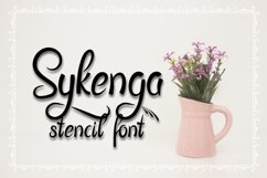 Sykenga Stencil Font Product Image 1