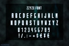 ZZYZX a futuristic Scifi Inspired Display Font Product Image 2