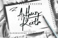 Arthur Keith - Signature Style Font Product Image 1