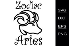 Zodiac Aries SVG cutting files Product Image 1