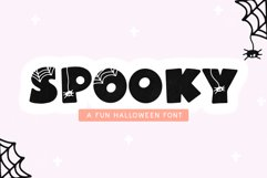Spooky - A Fun Halloween Font Product Image 1