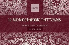 A collection of square hand-drawn patterns Product Image 1