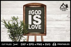 God is Love Cut File & Printable, Bible, Scripture, Jesus Product Image 6
