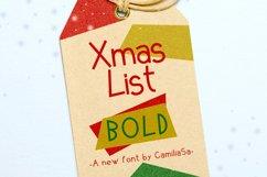 Xmas List Bold - A festive Christmas sans serif font ! Product Image 1