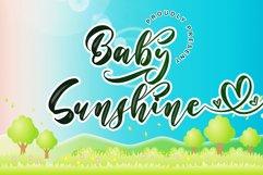 Baby Sunshine // Script Font - WEB FONT Product Image 1
