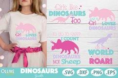 Dinosaurs Bundle, Dinosaur Girl Quotes SVG Product Image 1
