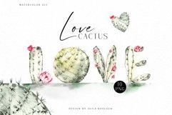 Watercolor cactus clipart, Cute cactus png. Love cactus Product Image 1