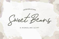 Sweet Beans - Monoline Script Font Product Image 1