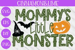 Halloween SVG - Mommy's Little Monster Kids Cut File Product Image 1