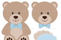 Boy Teddy Bear Digital papers and Clipart SET Product Image 2