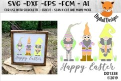 Easter Gnomes Happy Easter SVG Product Image 1