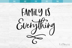 Family Is Everything SVG, Cut File, Cutting File, Product Image 2