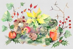 Christmas bouquet snowstorm Watercolor png Product Image 2