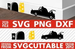 Mouse Cabriolet svg, Mice svg, Home Decor svg, Cheese svg Product Image 1