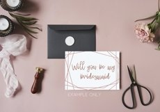 Rose gold geometric frame png Product Image 4