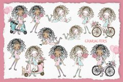 Cute Teen Girls 2, Digital Clipart, Fashion Girls, Valentine Product Image 4