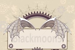 Banner with a Mechanical Dragon Wings ( Steampunk ) Product Image 2