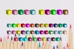 Color Cubes Font Product Image 4