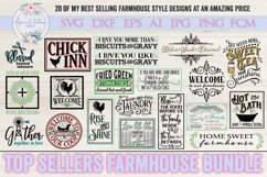 Top Sellers Farmhouse Bundle of 20 SVG DXF Cut Files Product Image 1