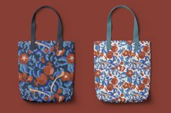 Digital pattern with Pomegranates and Birds Product Image 2