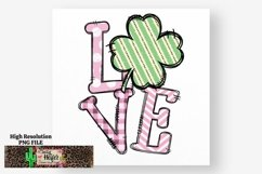 LOVE Pink St Patrick's Day Dye Sublimation PNG Design Product Image 2