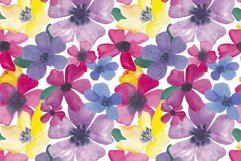 Watercolor colorful flowers seamless pattern Digital paper Product Image 2
