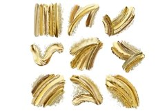Luxury Gold Brush Strokes Clipart Product Image 2
