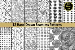 12 Hand Drawn Seamless Patterns Product Image 1