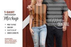 Couple T-Shirt Sublimation Mockup, Smart Object PSD File Product Image 3