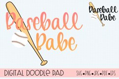 Baseball Babe SVG  Silhouette and Cricut Cut Files Product Image 2