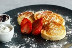 Cheese pancakes with strawberries Product Image 4