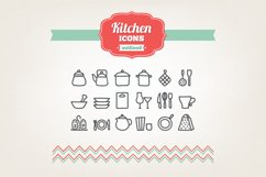 Hand Drawn Kitchen Icons Product Image 1