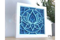 M136 - Lotus Flower Mandala, Shadow Box Mandala SVG DXF Product Image 3