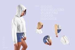 8 Women Crop Top Hoodie Mockups Product Image 2