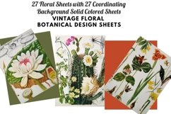 Vintage Botanical Full Page Floral Sheets 8.5 x 11, PDF Product Image 2