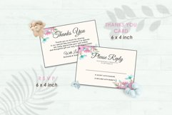 Wedding Invitation Set #12 Watercolor Floral Flower Style Product Image 4
