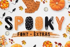 Spooky font with EXTRAS! Product Image 1