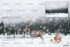 Christmas overlay & Snow overlay, Photoshop overlay Product Image 6
