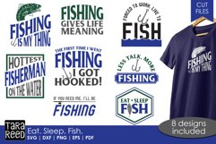 Eat Sleep Fish - Fishing SVG and Cut Files for Crafters Product Image 1