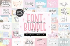 100 FONTS - The ULTIMATE Font Bundle Vol. 2 - Dixie Type Co. Product Image 1