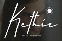 Web Font Kethie - A Stylish Signature Font Product Image 1