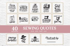 40 Sewing Quotes svg Bundle dxf eps png - sewing machine svg Product Image 3
