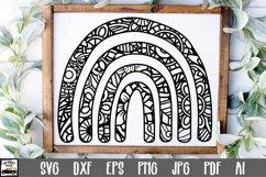 Boho Rainbow Mandala SVG Cut File Product Image 1