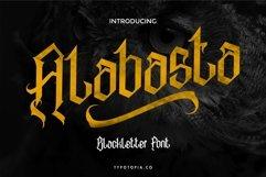 Alabasta - The Blackletter Font Product Image 1